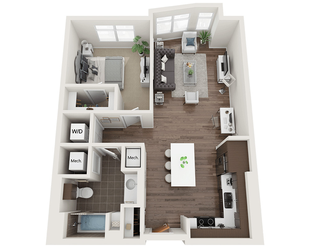 1 Bed, 1 Bath apartment in Waltham for $2,220