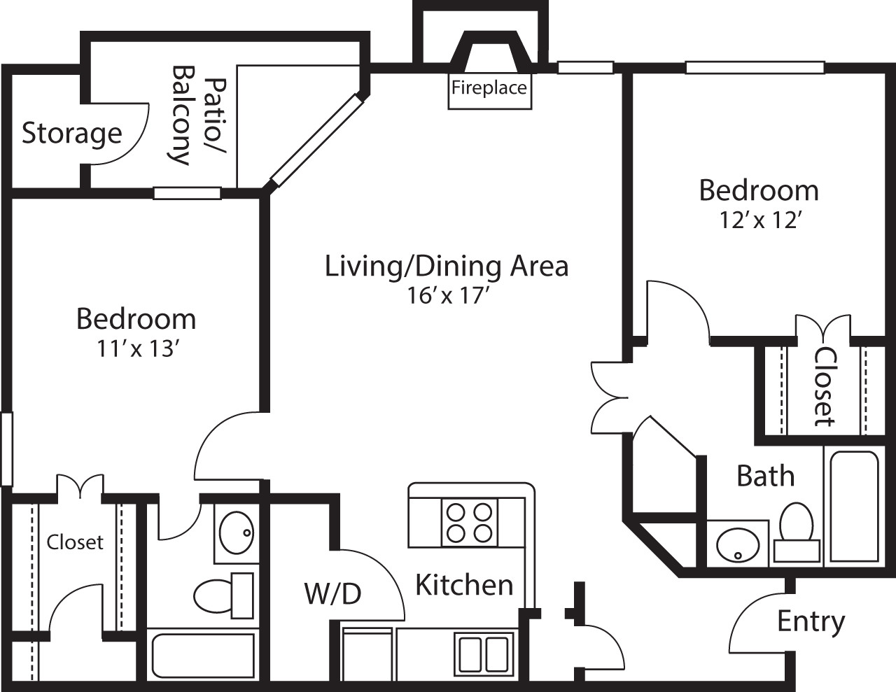 2 Beds, 2 Baths apartment in Quincy for $2,270