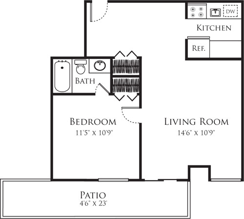 1 Bed, 1 Bath apartment in Cambridge, Mid Cambridge for $2,500