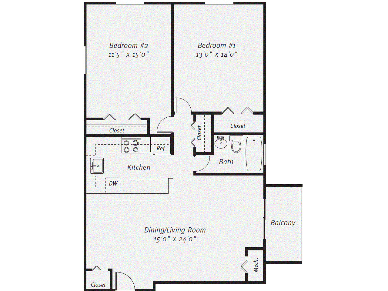 2 Beds, 1 Bath apartment in Quincy for $2,230