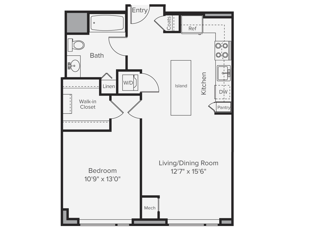 1 Bed, 1 Bath apartment in Boston, Back Bay for $4,980