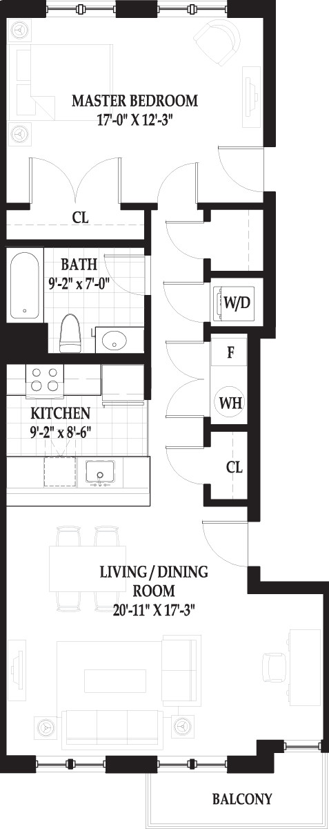 1 Bed, 1 Bath apartment in Boston, West End for $2,830