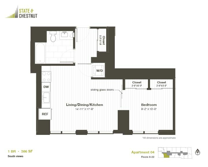 845 North State St., Chicago, IL - 2,291 USD/ month