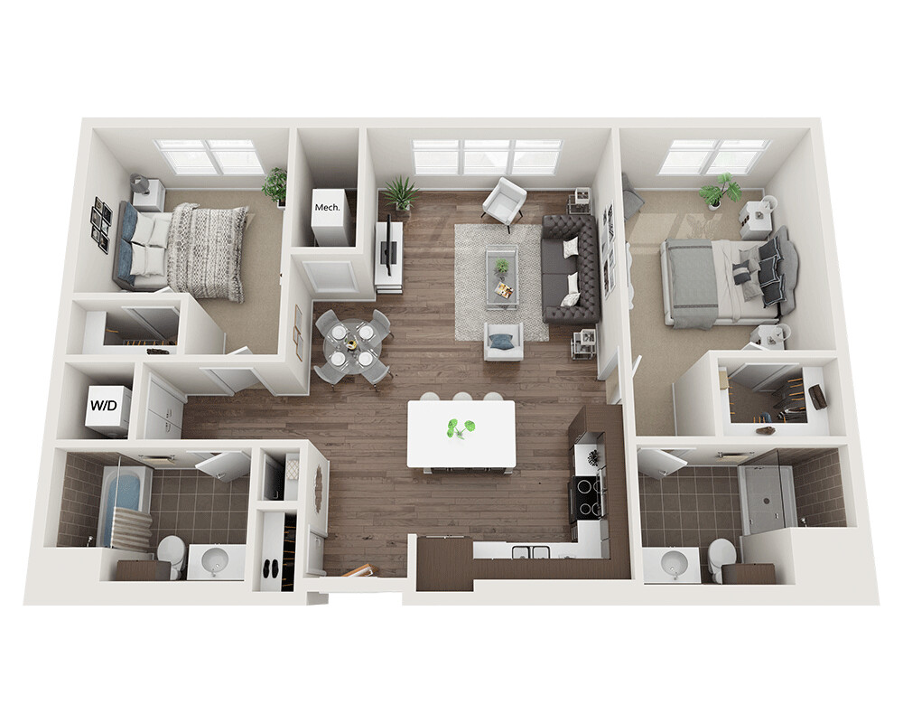 2 Beds, 2 Baths apartment in Waltham for $2,828