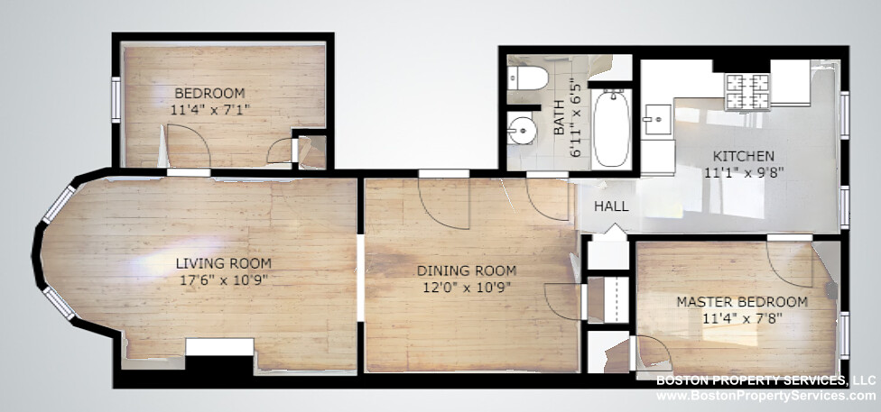 2 Beds, 1 Bath apartment in Boston, Mission Hill for $2,350
