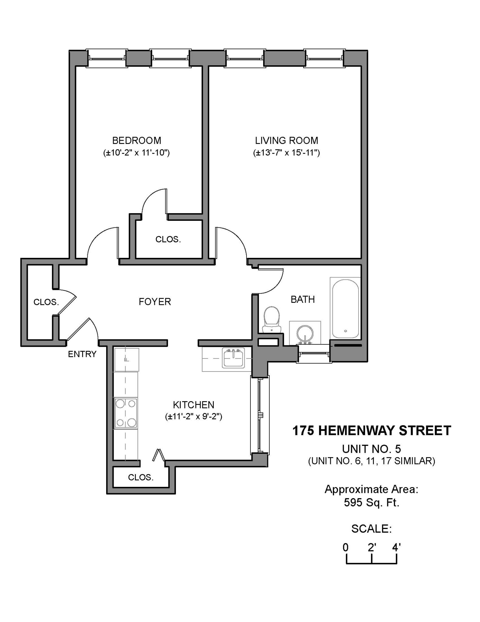 1.8 Beds, 1 Bath apartment in Boston, Fenway for $2,700