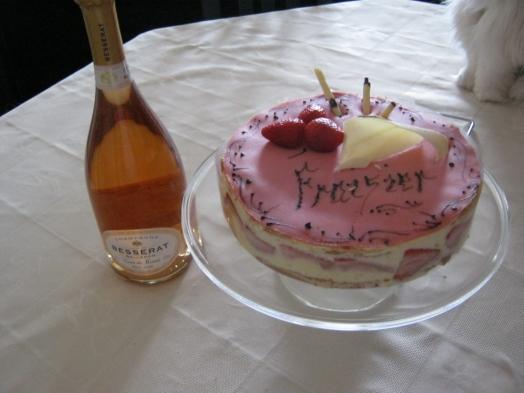 le gateau d'anniversaire de maman....