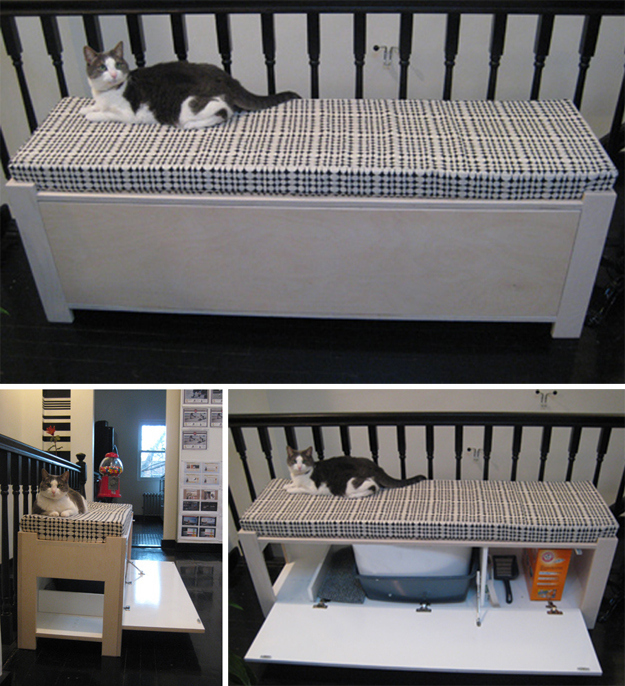 diy 20 ideas for hiding your cat 39 s litter box yummypets. Black Bedroom Furniture Sets. Home Design Ideas