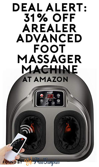 DEAL ALERT: 31% OFF Arealer Advanced Foot Massager Machine At Amazon