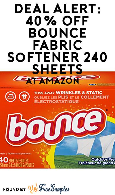 DEAL ALERT: 40% OFF Bounce Fabric Softener 240 Sheets At Amazon