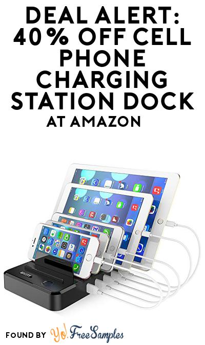 DEAL ALERT: 40% OFF Cell Phone Charging Station Dock At Amazon