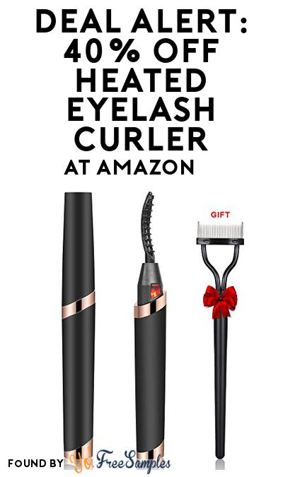 DEAL ALERT: 40% OFF Heated Eyelash Curler At Amazon