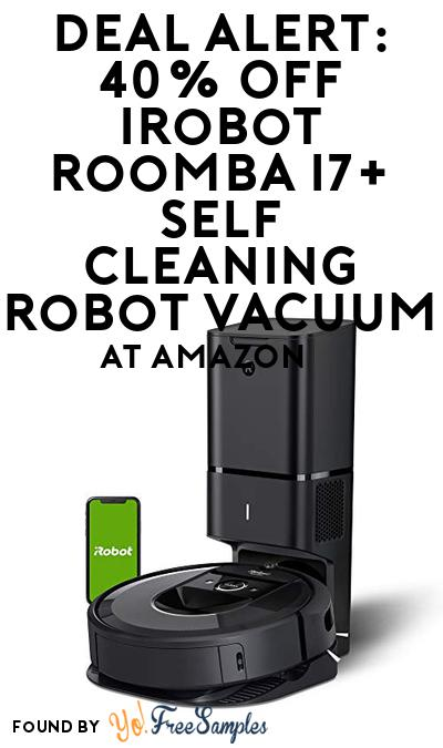 DEAL ALERT: 40% OFF iRobot Roomba i7+ Self Cleaning Robot Vacuum At Amazon