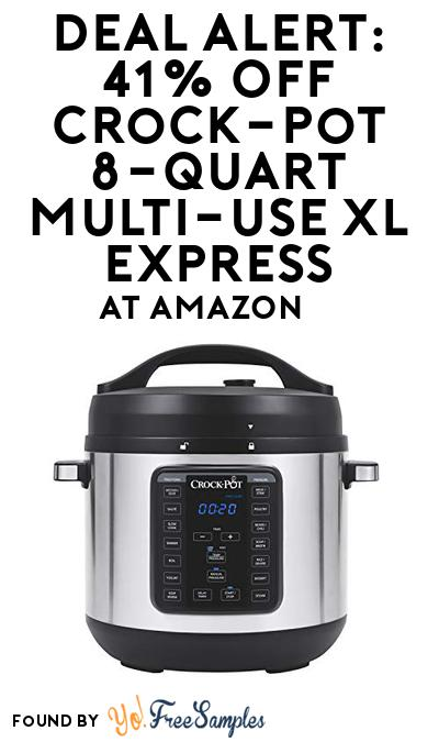 DEAL ALERT: 41% OFF Crock-pot 8-Quart Multi-Use XL Express At Amazon