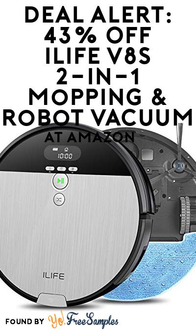 DEAL ALERT: 43% OFF ILIFE V8s 2-in-1 Mopping & Robot Vacuum At Amazon