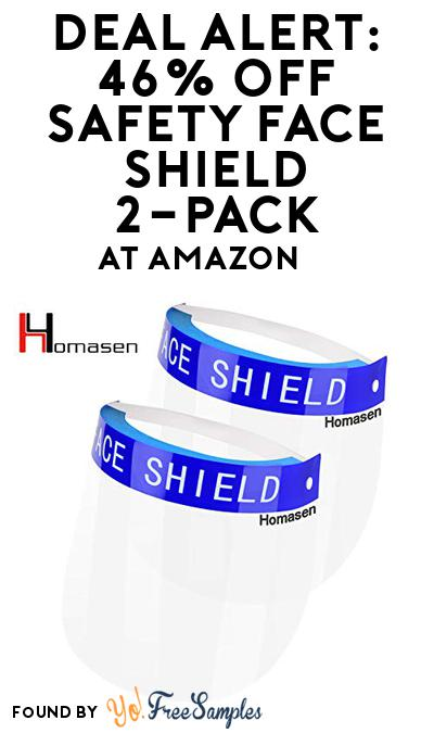 DEAL ALERT: 46% OFF Safety Face Shield 2-Pack At Amazon