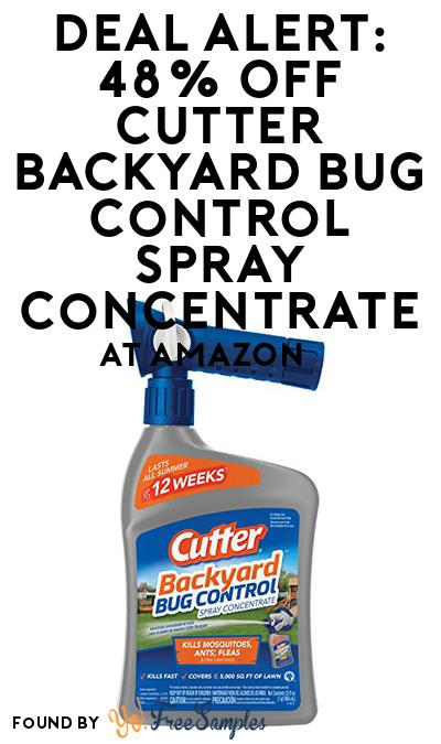 DEAL ALERT: 48% OFF Cutter Backyard Bug Control Spray Concentrate At Amazon