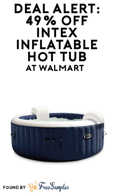 DEAL ALERT: 49% OFF Intex Inflatable Hot Tub At Walmart