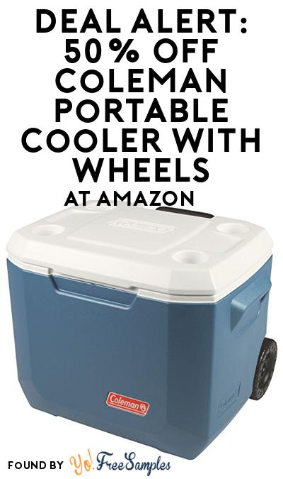 DEAL ALERT: 50% OFF Coleman Portable Cooler with Wheels At Amazon