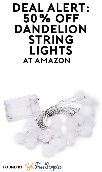 DEAL ALERT: 50% OFF Dandelion String Lights At Amazon
