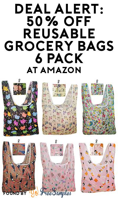 DEAL ALERT: 50% OFF Reusable Grocery Bags 6 Pack At Amazon