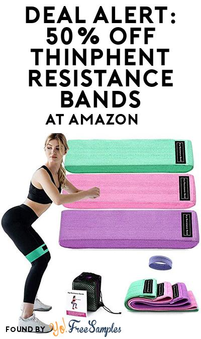 DEAL ALERT: 50% OFF THINPHENT Resistance Bands At Amazon