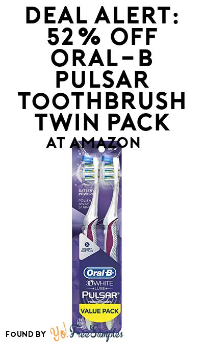 DEAL ALERT: 52% OFF Oral-B Pulsar Toothbrush Twin Pack At Amazon