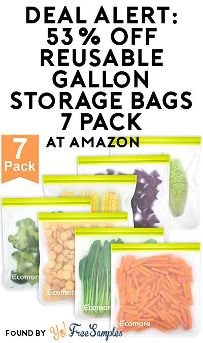 DEAL ALERT: 53% OFF Reusable Gallon Storage Bags 7 Pack At Amazon