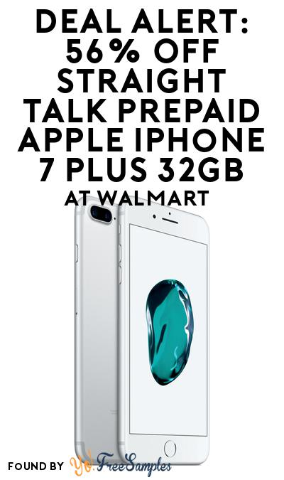 DEAL ALERT: 56% OFF Straight Talk Prepaid Apple iPhone 7 Plus 32GB At Walmart