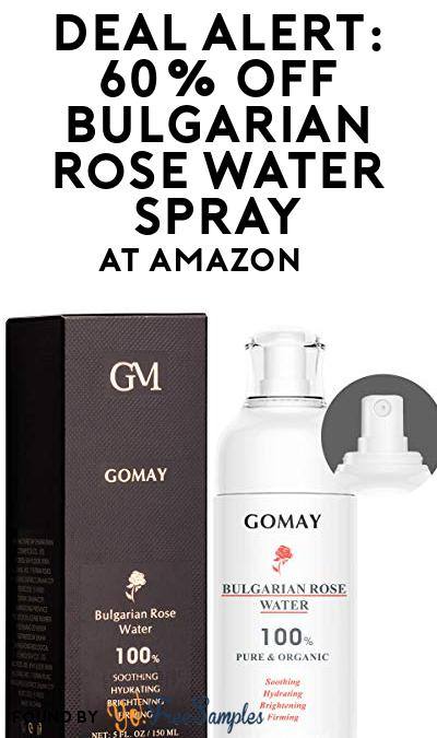 DEAL ALERT: 60% OFF Bulgarian Rose Water Spray At Amazon