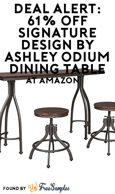 DEAL ALERT: 61% OFF Signature Design by Ashley Odium Dining Table At Amazon