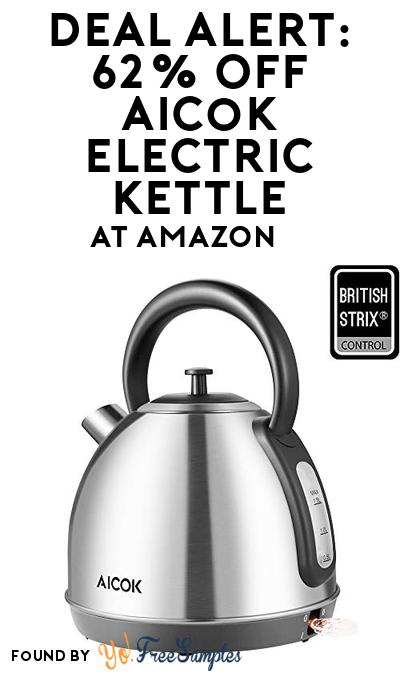 DEAL ALERT: 62% OFF Aicok Electric Kettle At Amazon