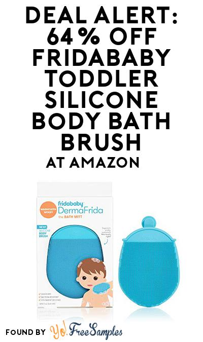 DEAL ALERT: 64% OFF Fridababy Toddler Silicone Body Bath Brush At Amazon
