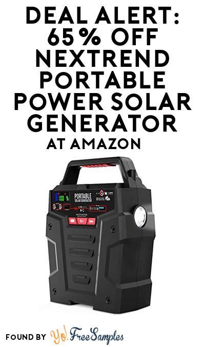 DEAL ALERT: 65% OFF NexTrend Portable Power Solar Generator At Amazon