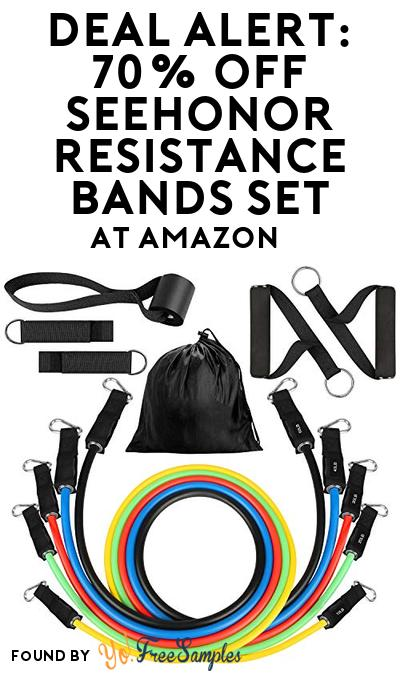 DEAL ALERT: 70% OFF SEEHONOR Resistance Bands Set At Amazon