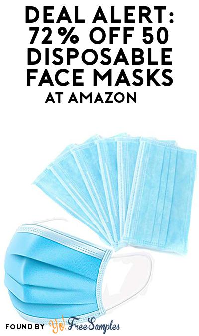 DEAL ALERT: 72% OFF Disposable Face Masks 50-Count At Amazon