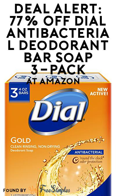 DEAL ALERT: 77% OFF Dial Antibacterial Deodorant Bar Soap 3-Pack At Amazon
