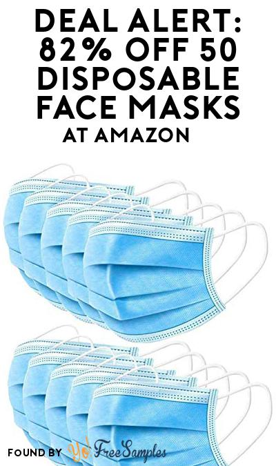 DEAL ALERT: 82% OFF 50 Disposable Face Masks At Amazon