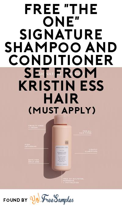 """FREE """"The One"""" Signature Shampoo And Conditioner Set From Kristin Ess Hair At BzzAgent (Must Apply)"""