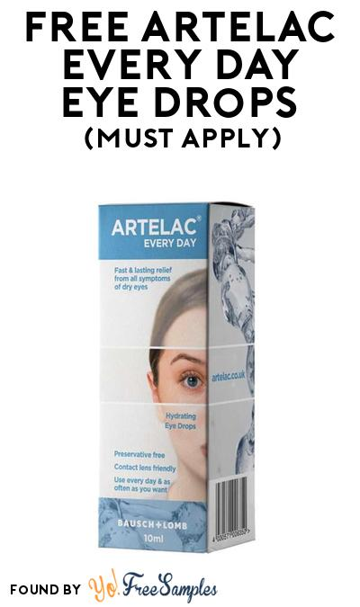 FREE Artelac Every Day Eye Drops At BzzAgent (Must Apply)