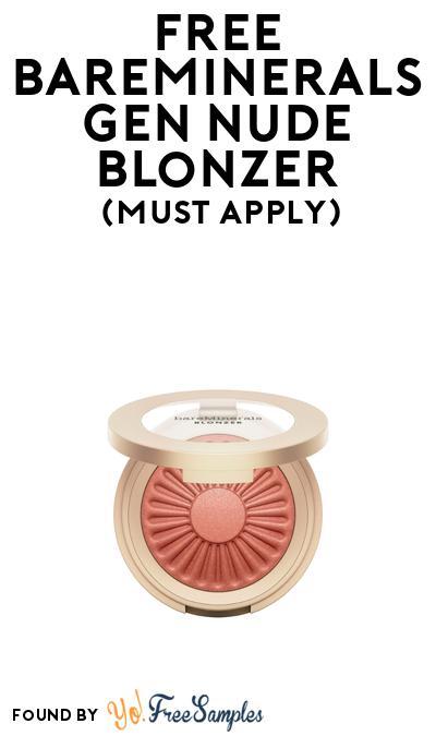 FREE Bareminerals Gen Nude Blonzer At BzzAgent (Must Apply)