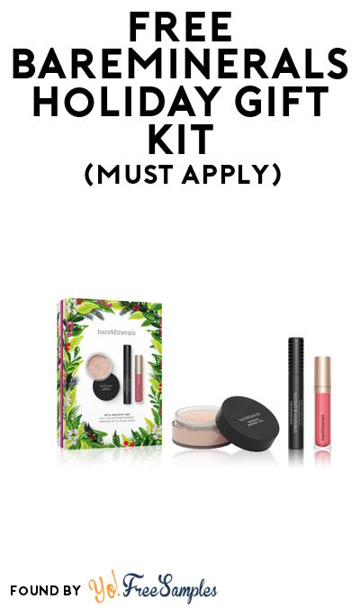 FREE Bareminerals Holiday Gift Kit At BzzAgent (Must Apply)