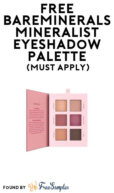 FREE Bareminerals Mineralist Eyeshadow Palette At BzzAgent (Must Apply)