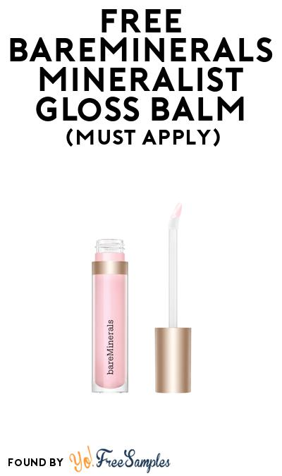 FREE Bareminerals Mineralist Gloss Balm At BzzAgent (Must Apply)