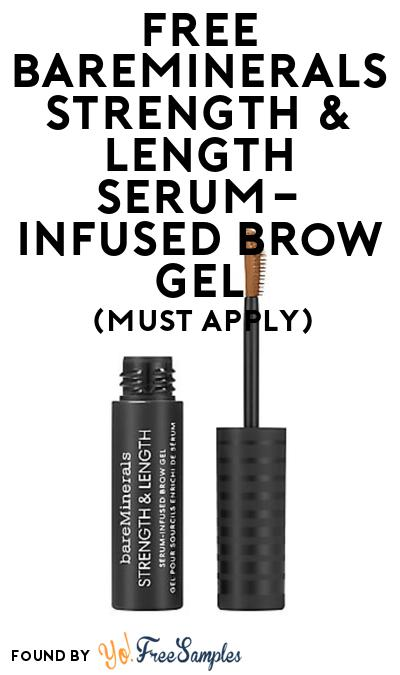 FREE Bareminerals Strength & Length Serum-Infused Brow Gel At BzzAgent (Must Apply)