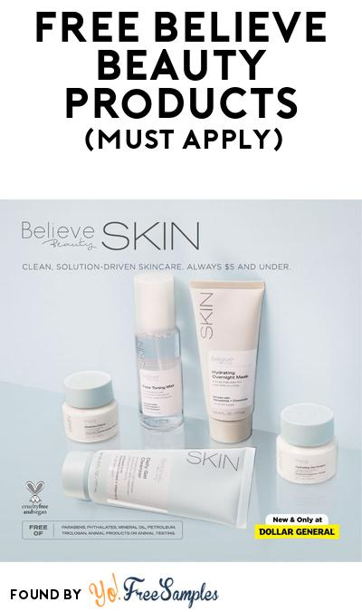 FREE Believe Beauty Products At BzzAgent (Must Apply)