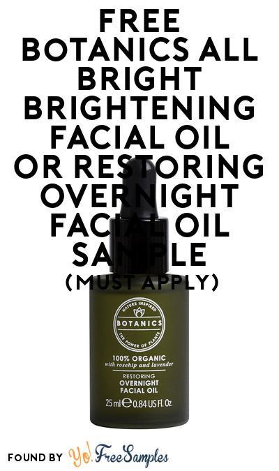 FREE Botanics All Bright Brightening Facial Oil or Restoring Overnight Facial Oil Sample At BzzAgent (Must Apply)