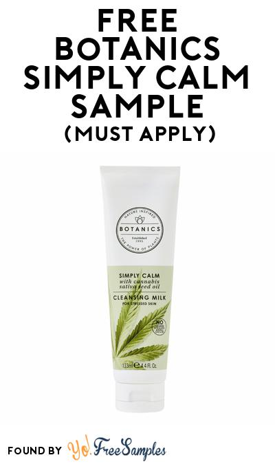 FREE Botanics Simply Calm Cleansing Milk Sample At BzzAgent (Must Apply)