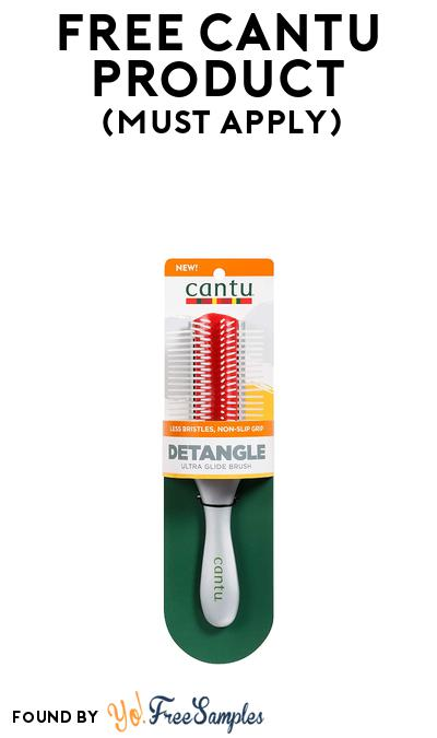 FREE Cantu Detangle Ultra Glide Brush At BzzAgent (Must Apply)