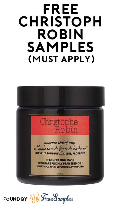 FREE Christophe Robin Regenerating Hair Mask At BzzAgent (Must Apply)
